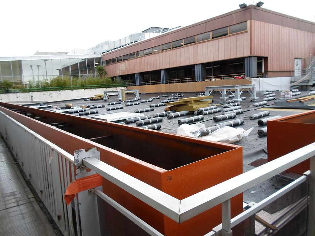 Bacs acier sur toiture pour plantes