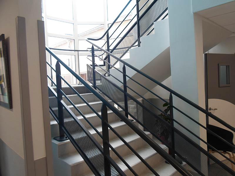 Garde-corps métallique d'escalier intérieur